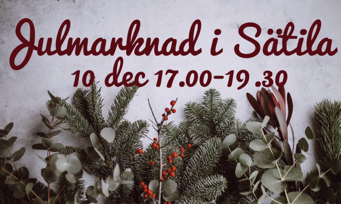 Julmarknad i Sätila 10 december